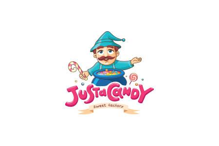 """Розробка дизайну логотипу та фірмового стилю для компанії """"Justacandy"""""""
